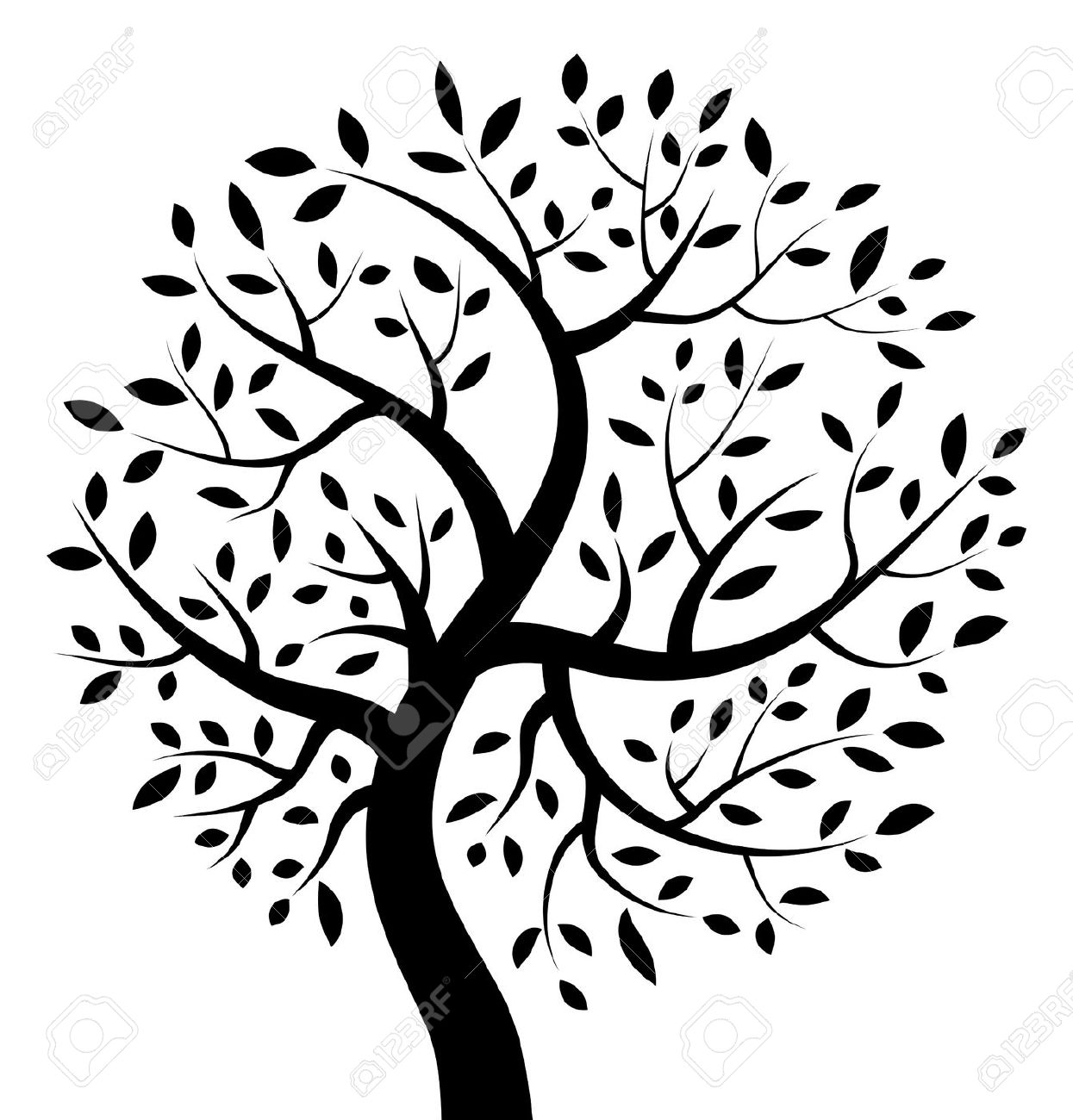 Life clipart. Black and white tree