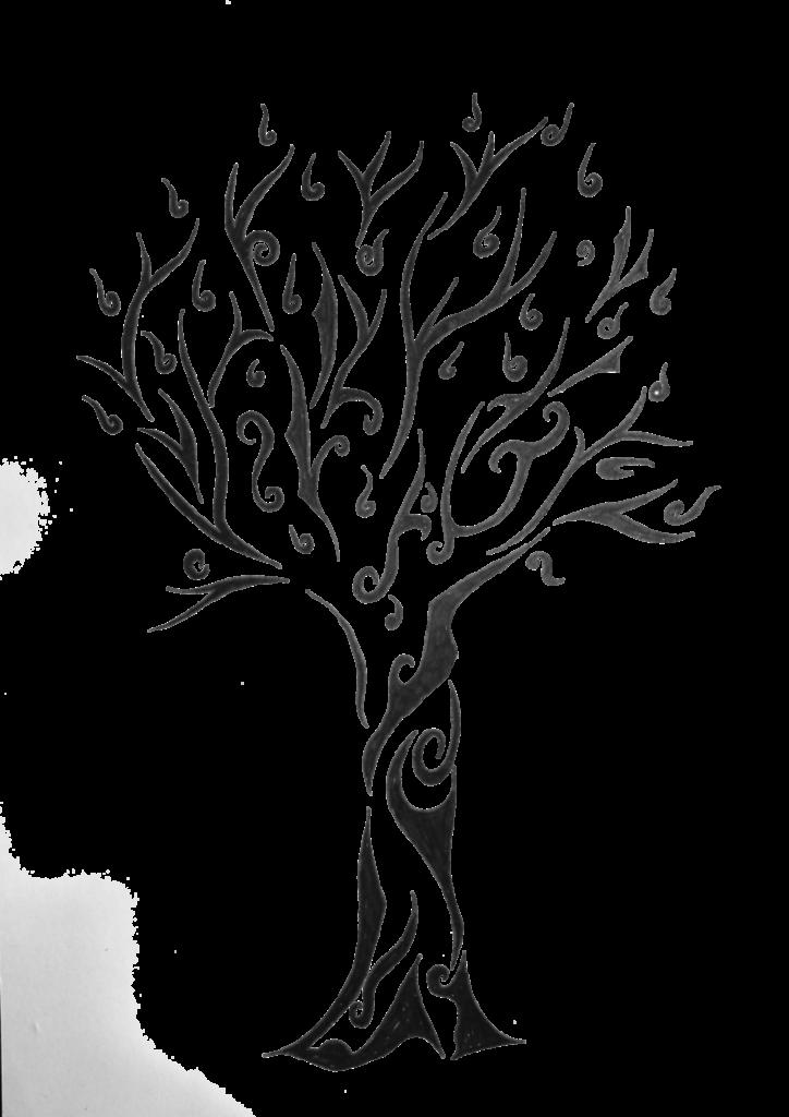 Tribal tree tattoo tattoos. Zucchini clipart pipino