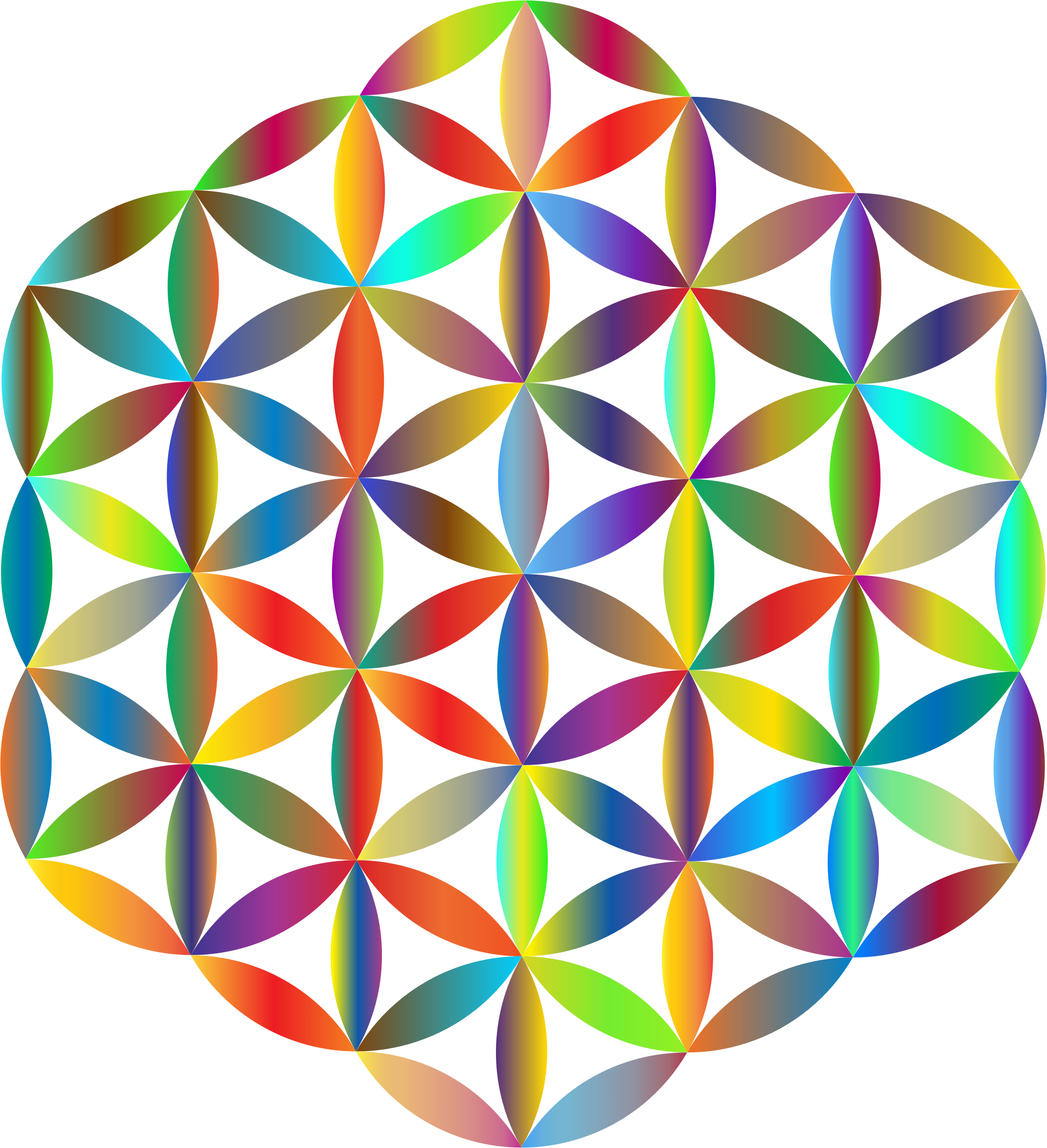 Clipart prismatic big image. Flower of life png