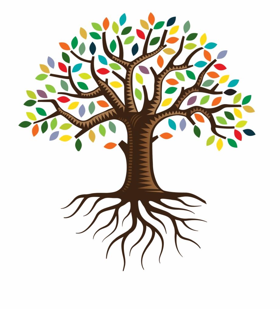 Root qc family logo. Tree clipart life