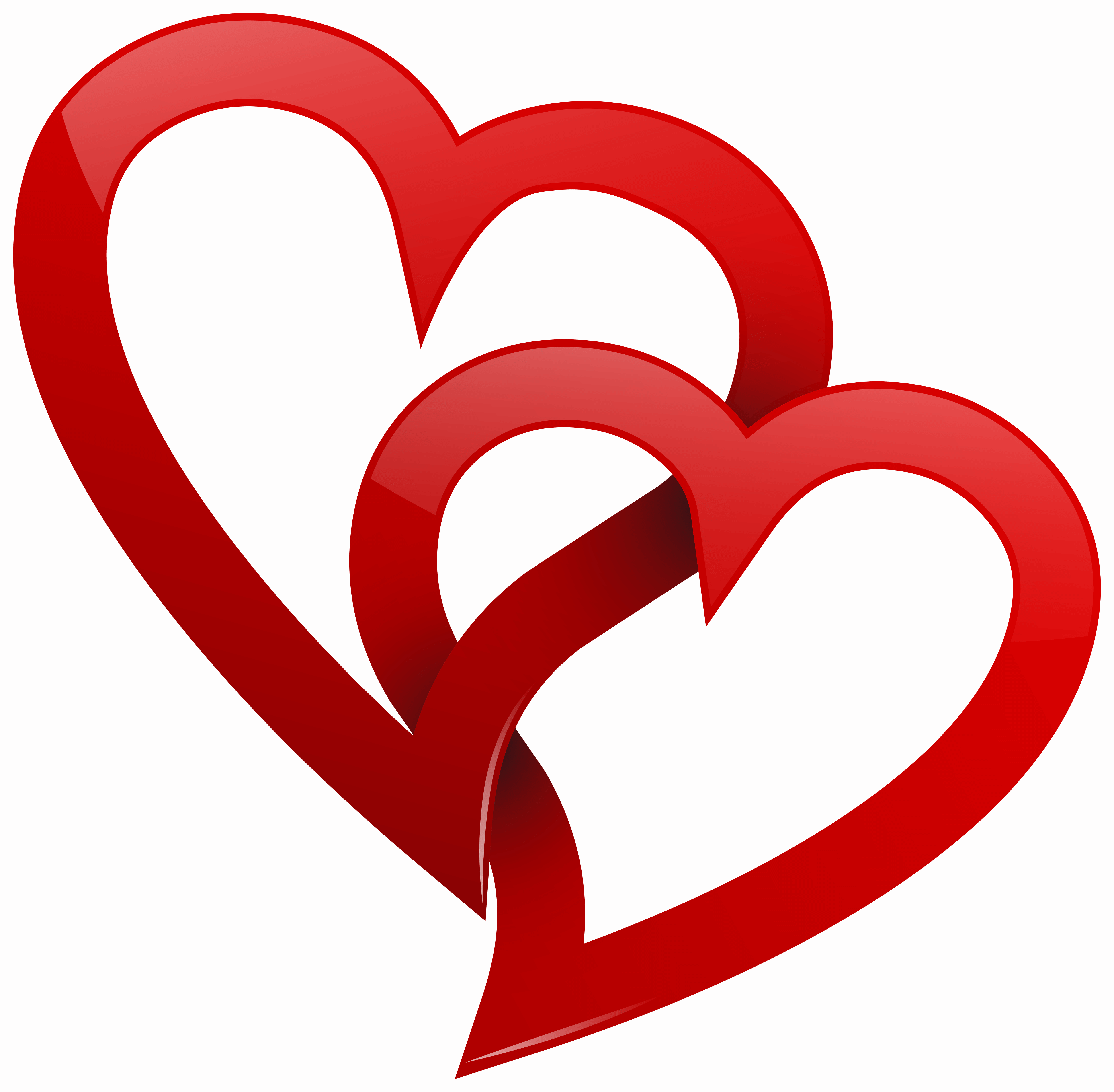 Two red hearts png. Life clipart heart