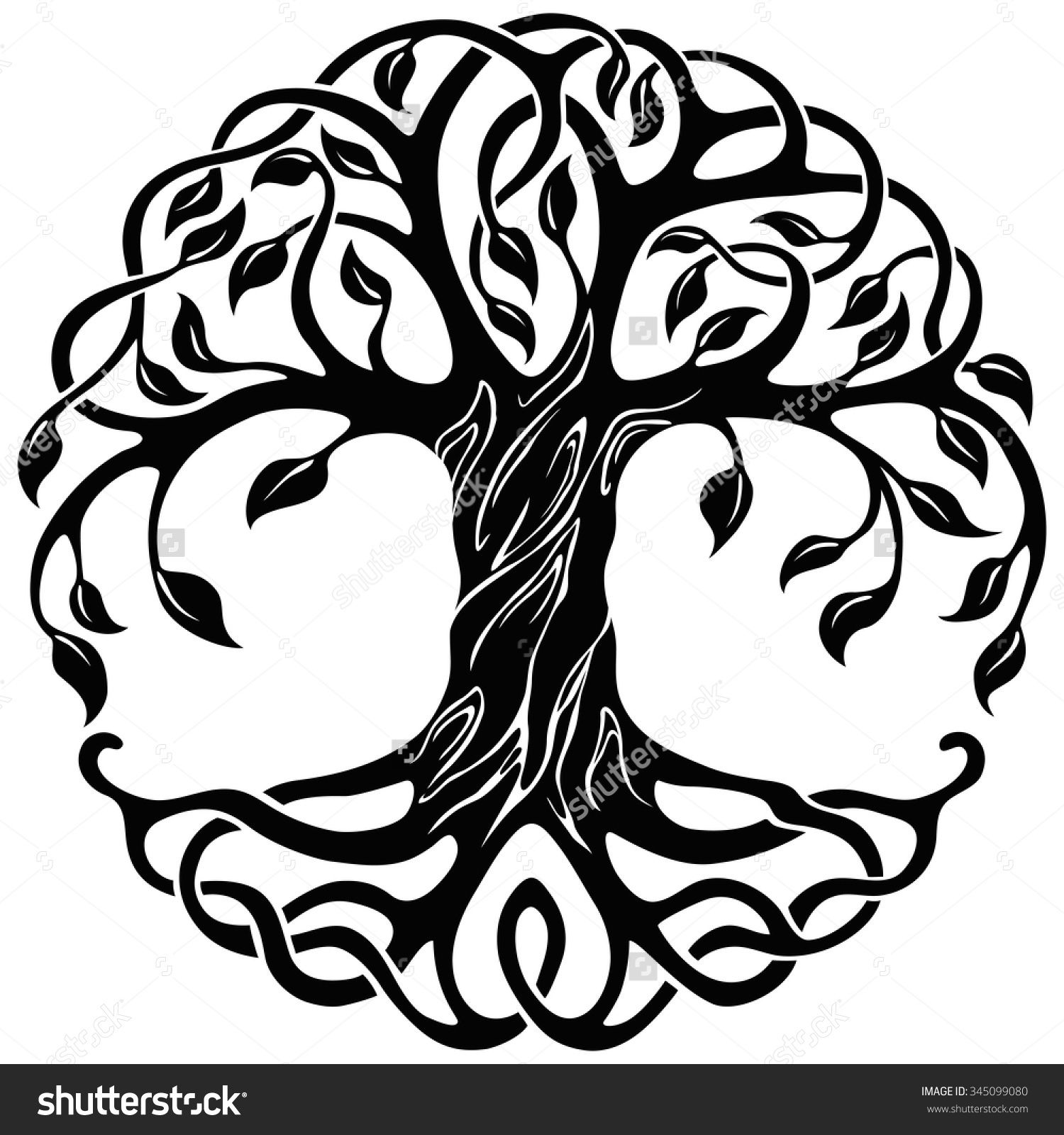 Tree of with roots. Life clipart life symbol