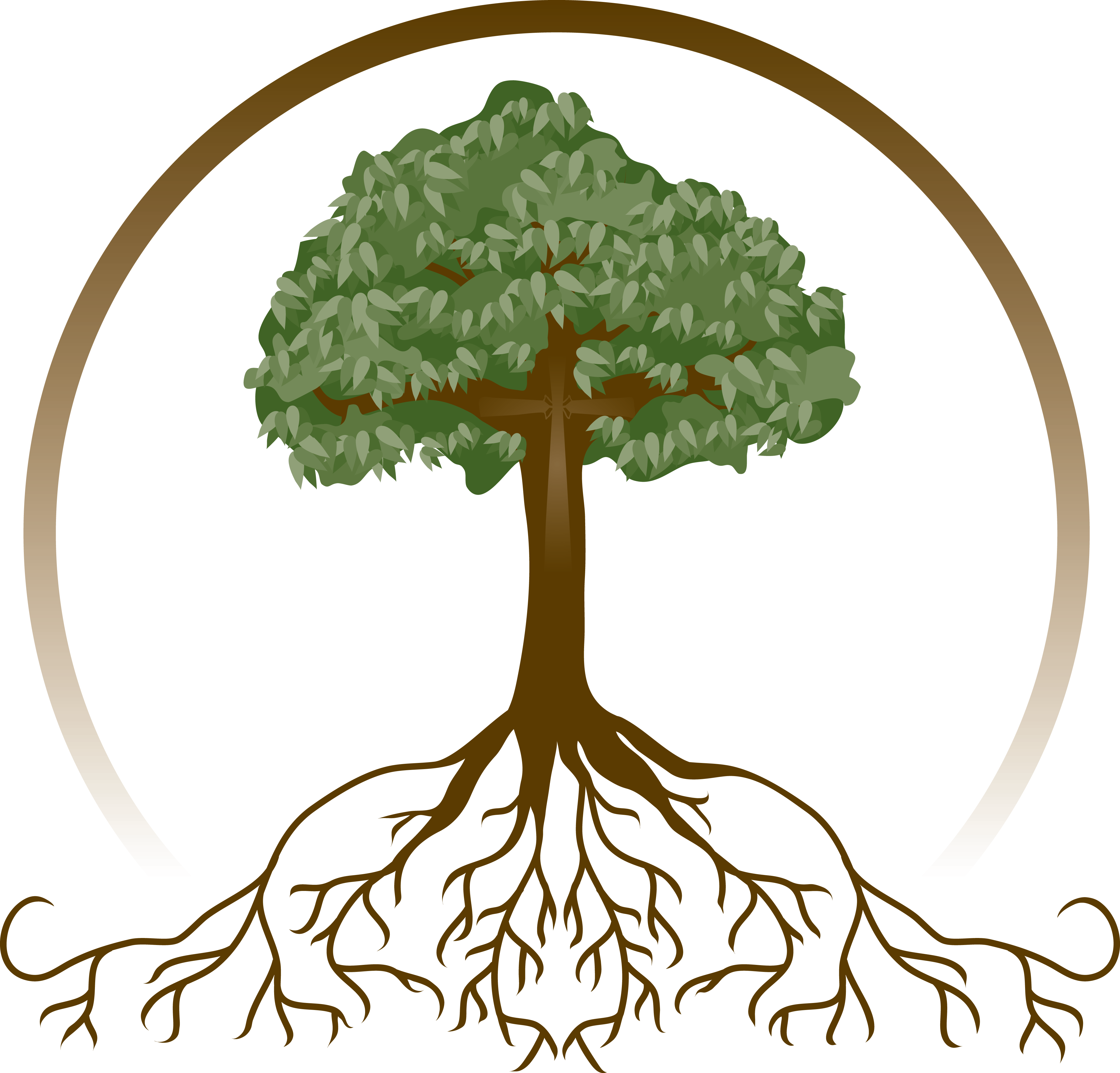 Deeply rooted faith in. Life clipart prayer tree