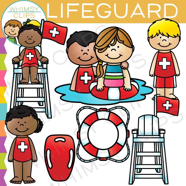 Lifeguard clipart. Kids clip art images