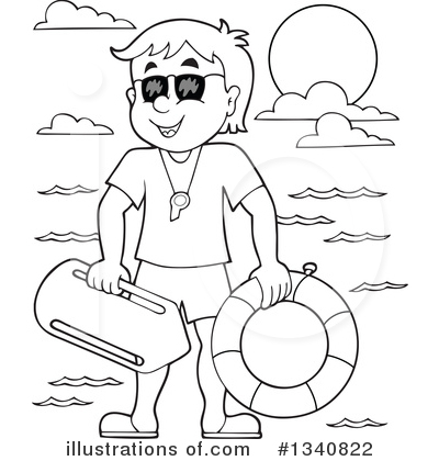 Lifeguard clipart. Illustration by visekart royaltyfree