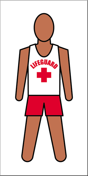 Lifeguard clipart. Clip art people male