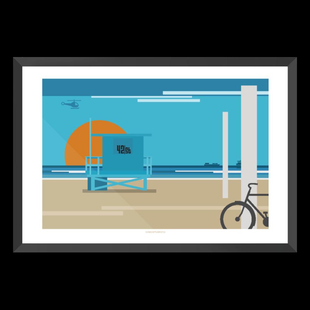 Lifeguard clipart border. Custom tower graphic print