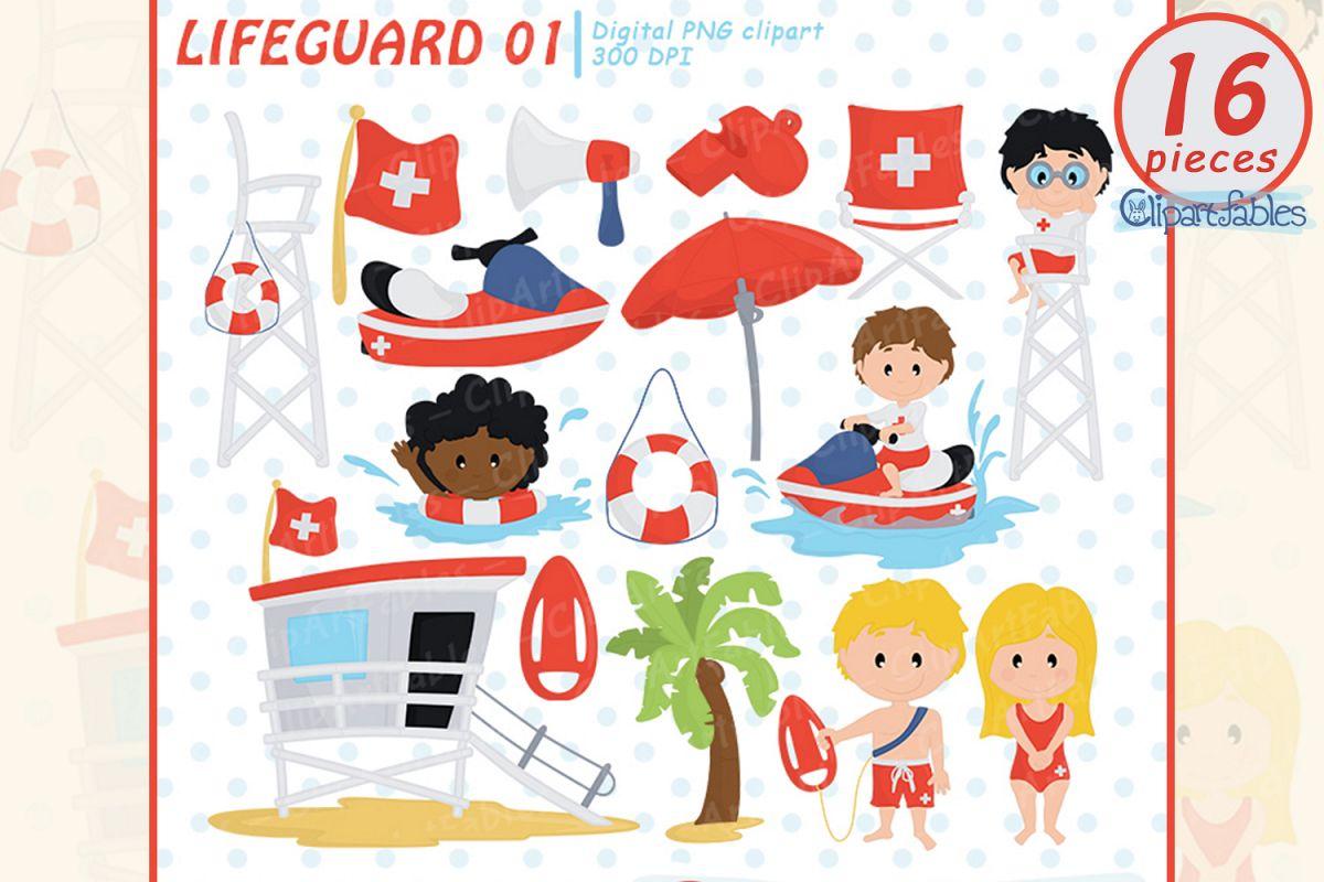 Little cute baywatch summer. Lifeguard clipart clip art