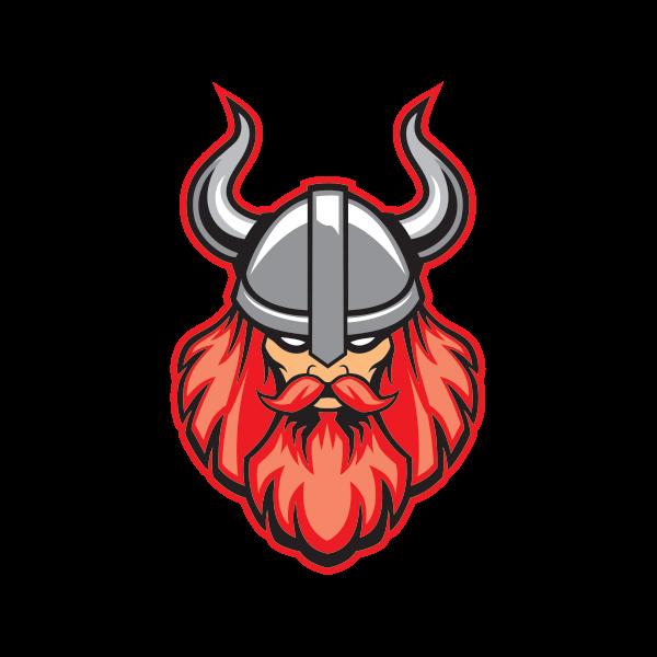 Warrior clipart viking. Printed vinyl head stickers