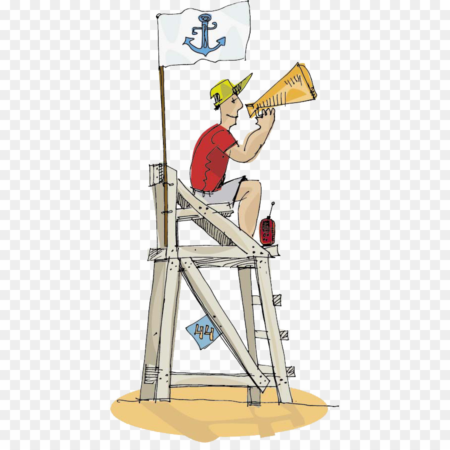 Cartoon png royalty free. Lifeguard clipart lifeguard tower