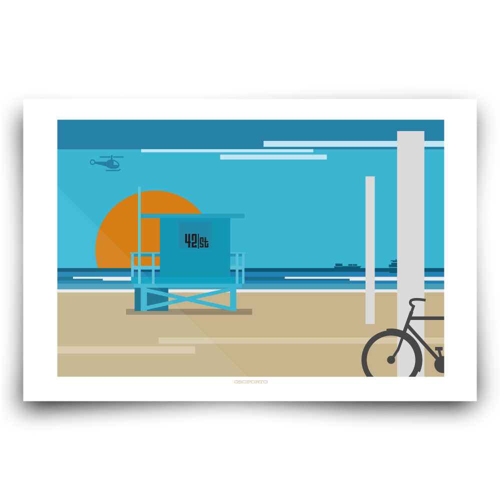 Lifeguard clipart lifeguard tower. Custom graphic print osoporto