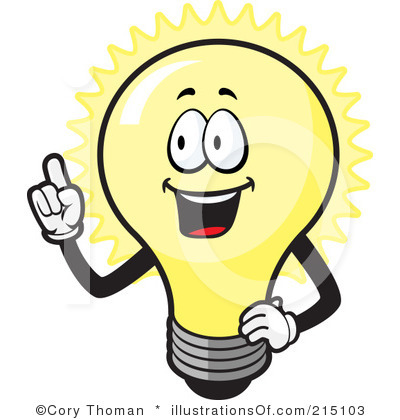 Light bulb clip art. Idea black and white