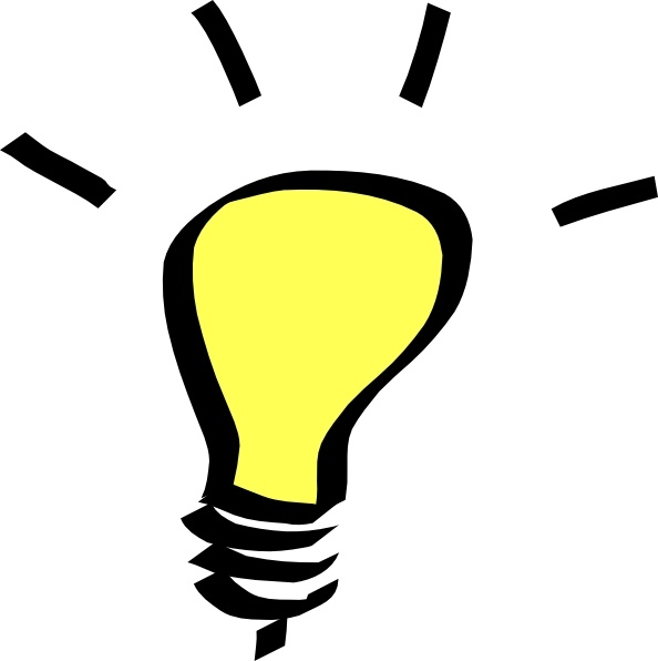 Free vector in open. Light bulb clip art