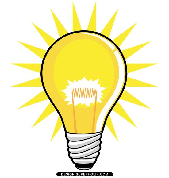 Shining clipart . Light bulb clip art
