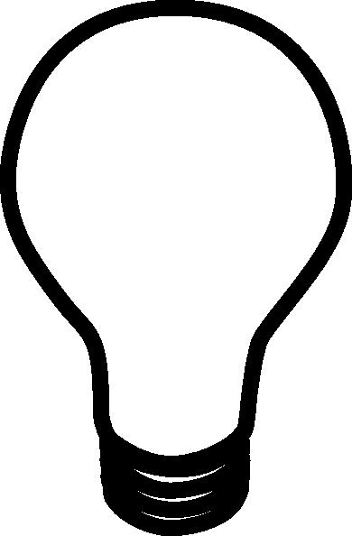 Clipart panda free lampclipartblackandwhite. Light bulb clip art black and white