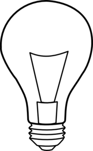 Outline at clker com. Light bulb clip art black and white