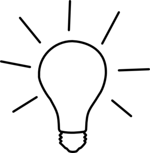 Light bulb clip art black and white. Idea vector online royalty