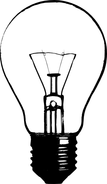 Light bulb clip art black and white. Lightbulb stencil google search