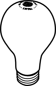 Lightbulb at clker com. Light bulb clip art black and white