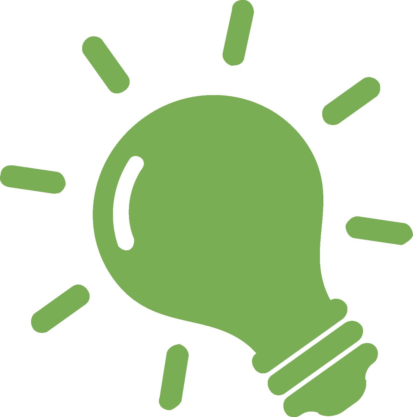 Florida incandescent green personality. Light bulb clip art creative