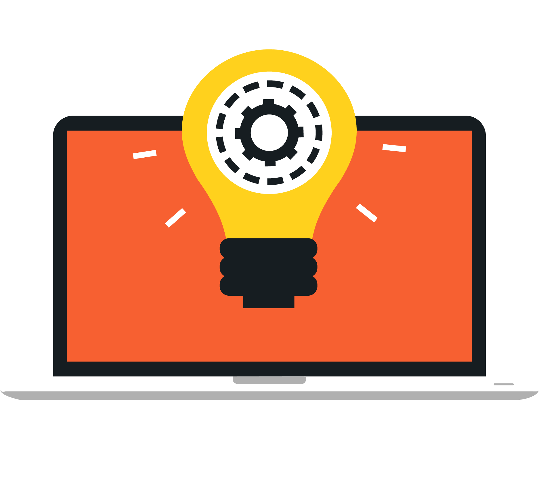 Light bulb clip art creative. Graphic design notebook