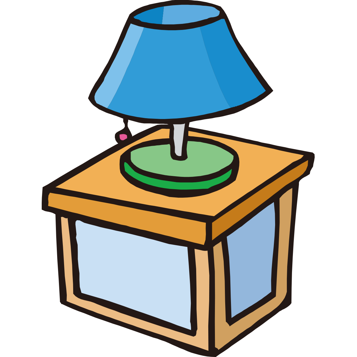Bedside tables light fixture. Donuts clipart round object