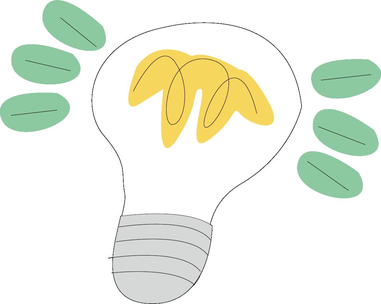 Light bulb clip art creative. Incandescent lamp cartoon transprent