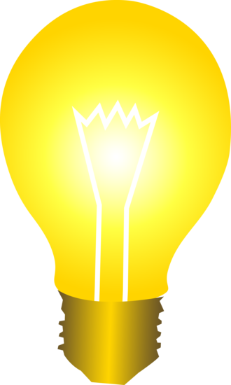 Light bulb clip art cute. Of a glowing with