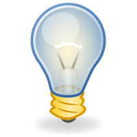 Download free png photo. Light bulb clip art cute