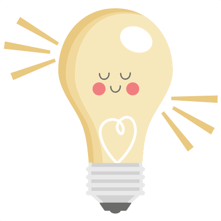 Happy lightbulb svg scrapbook. Light bulb clip art cute