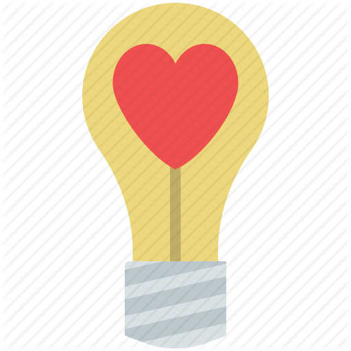 Iconfinder valentine colored icons. Light bulb clip art heart