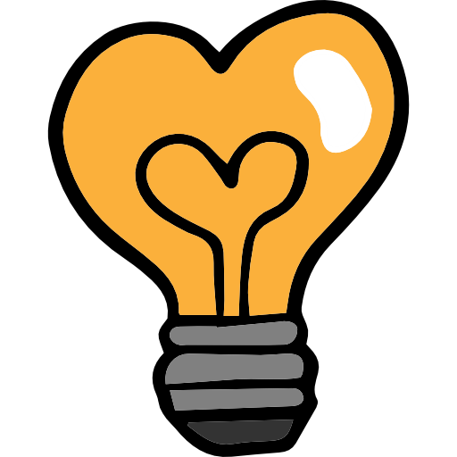 Valentines day electricity shaped. Light bulb clip art heart