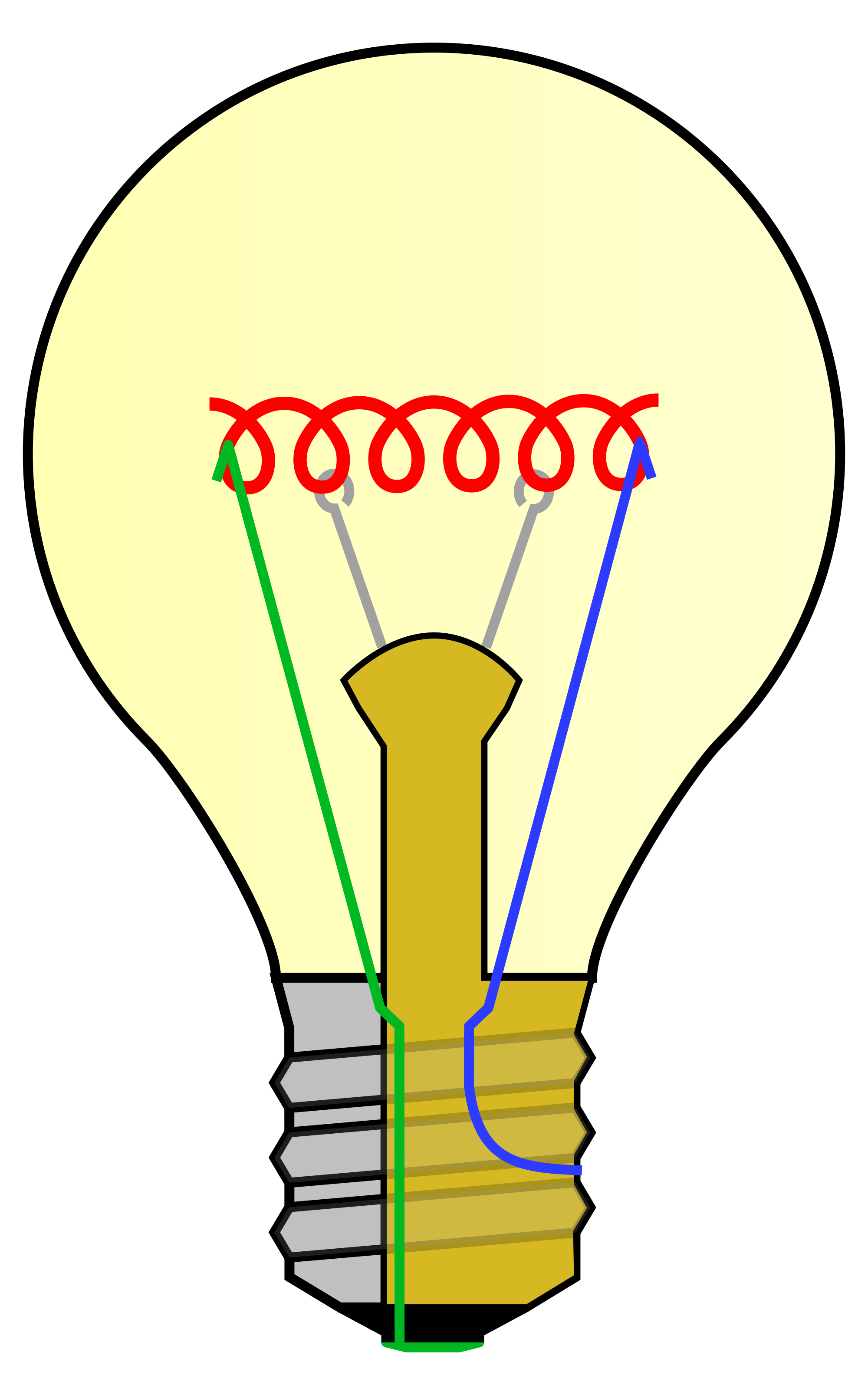 File incandescent no labels. Light bulb clip art modern