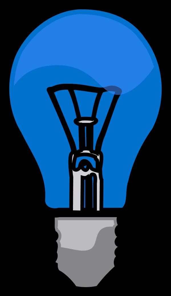 Light bulb clip art modern. Clipart vector