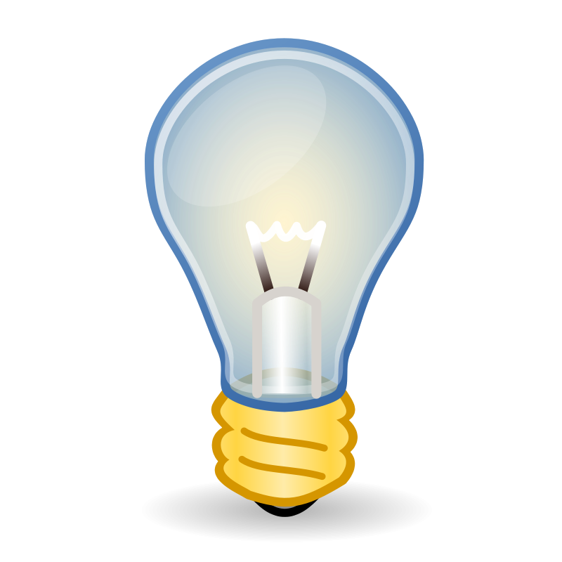 Light bulb reading enlightens. Lights clipart buld