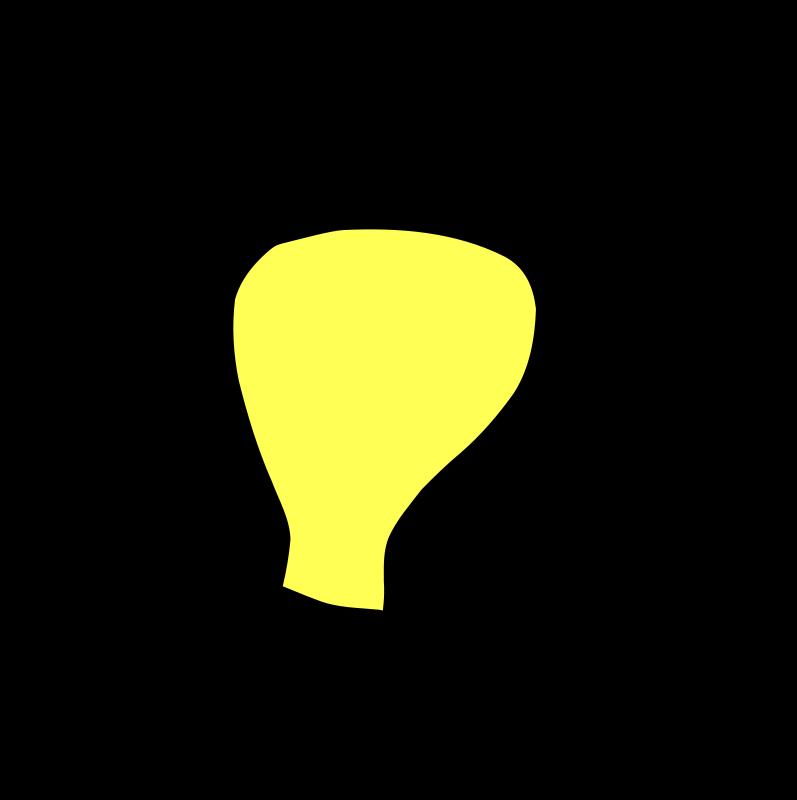 Light bulb clip art modern. Inverted bowl like suspension
