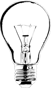 Lightbulb at clker com. Light bulb clip art old fashioned