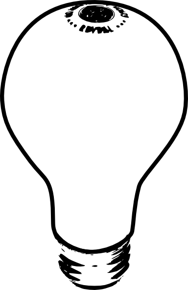 Light bulb clip art old fashioned. Free outline download on