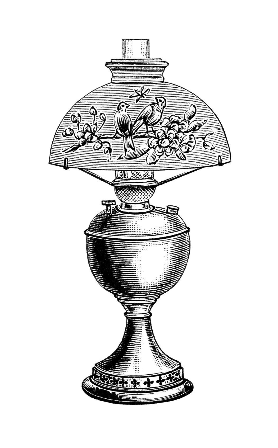 Vintage lamp black and. Light bulb clip art old fashioned