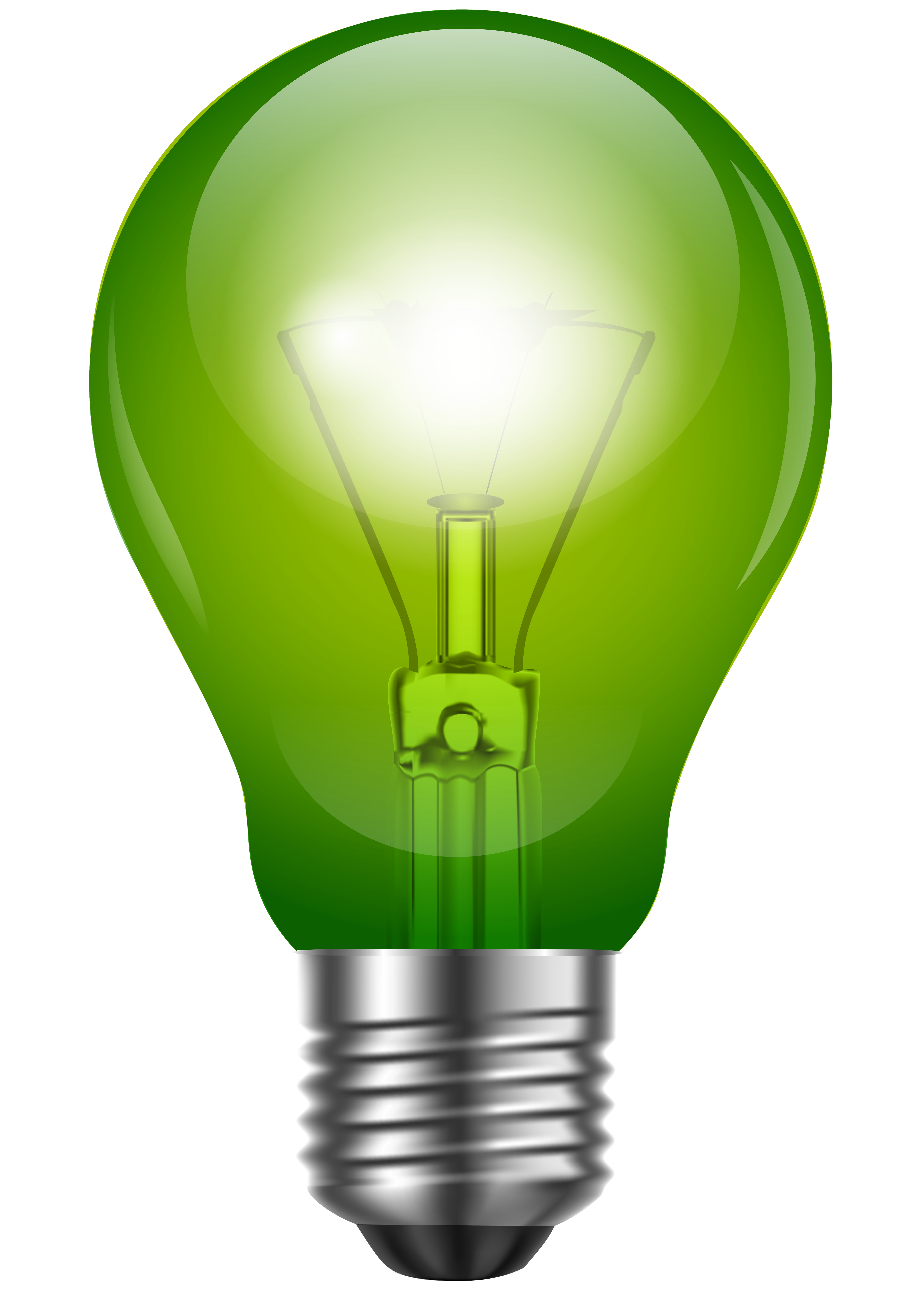 Green png best web. Light bulb clip art realistic