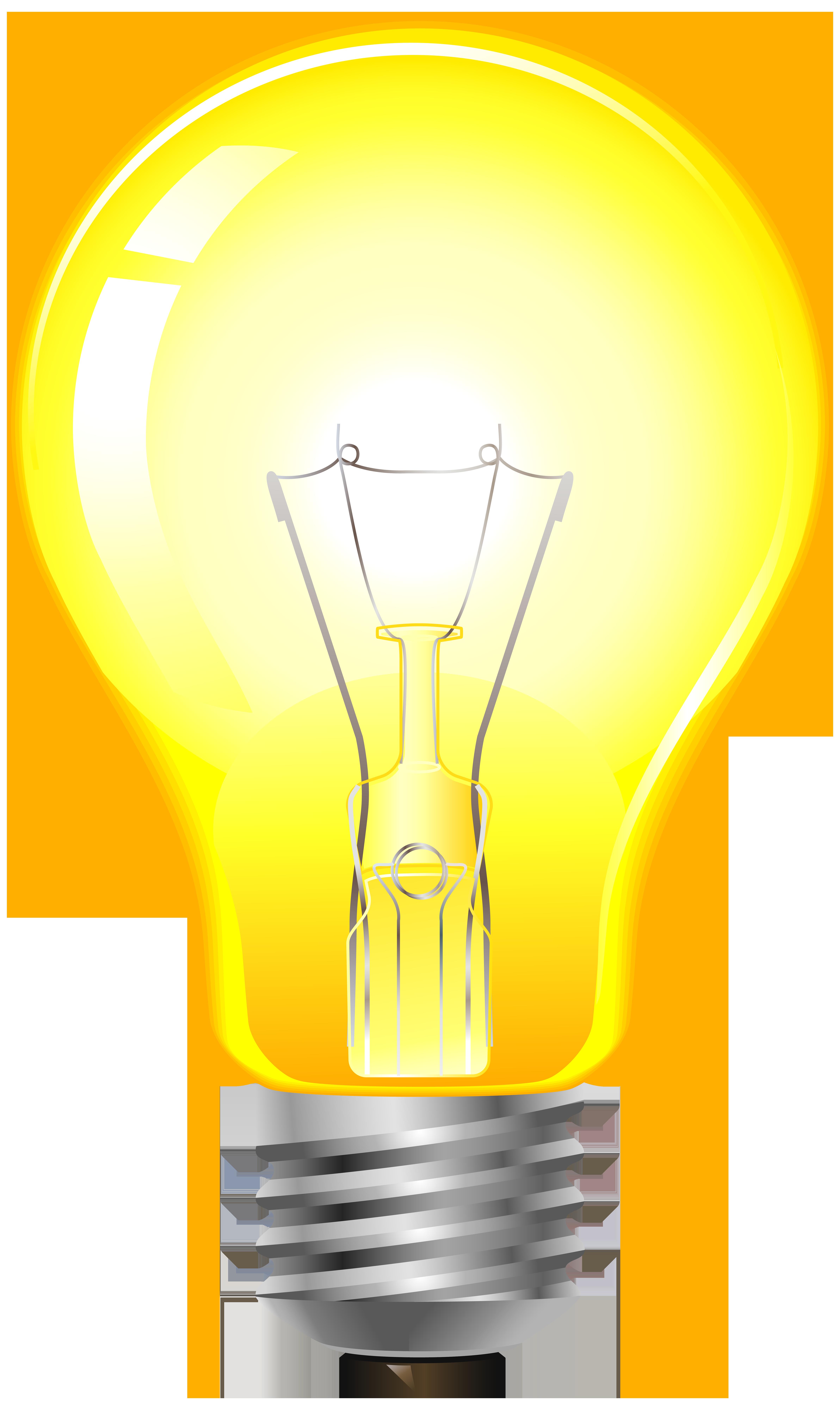 Light bulb clip art realistic. Yellow png best web