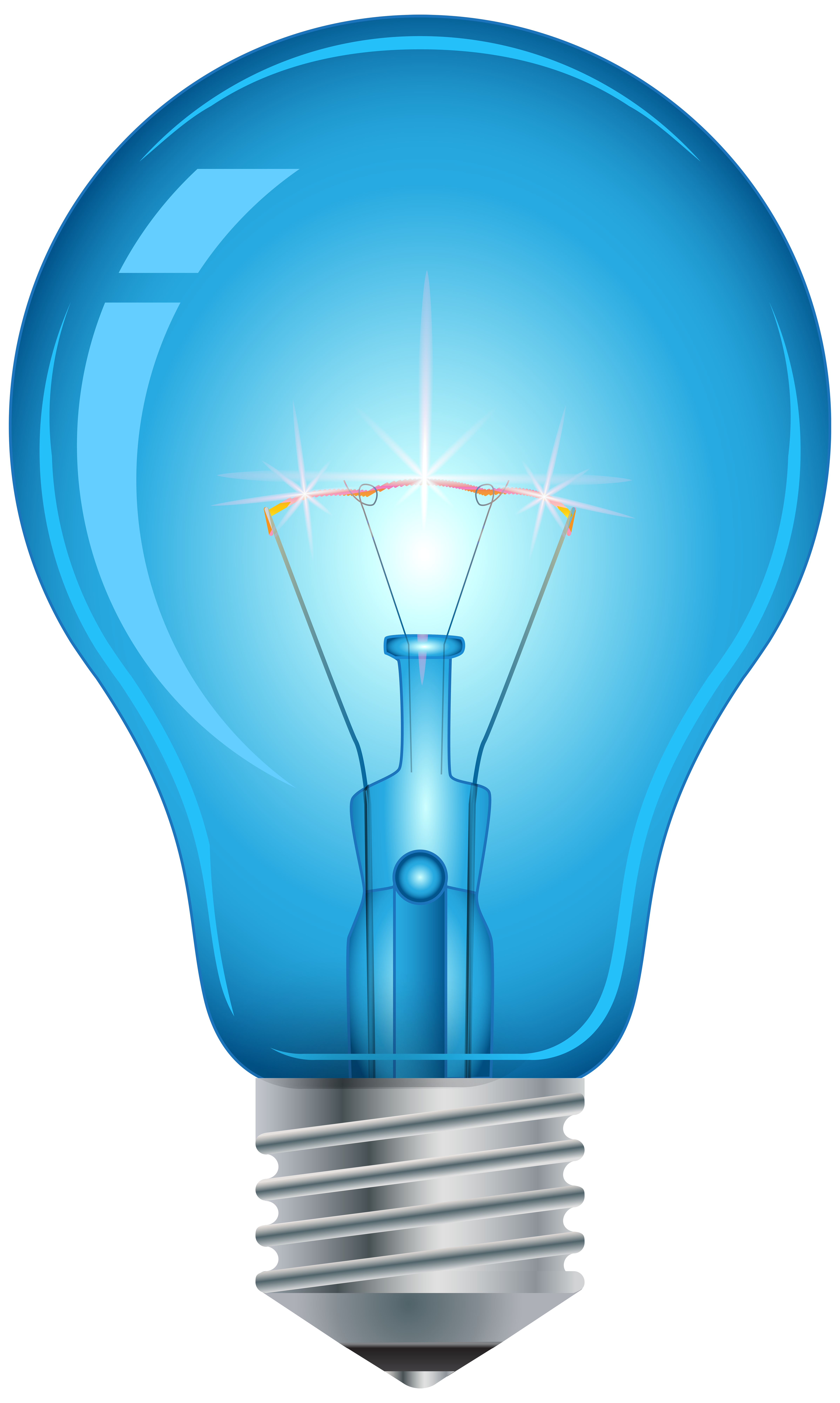 Blue png best web. Light bulb clip art realistic