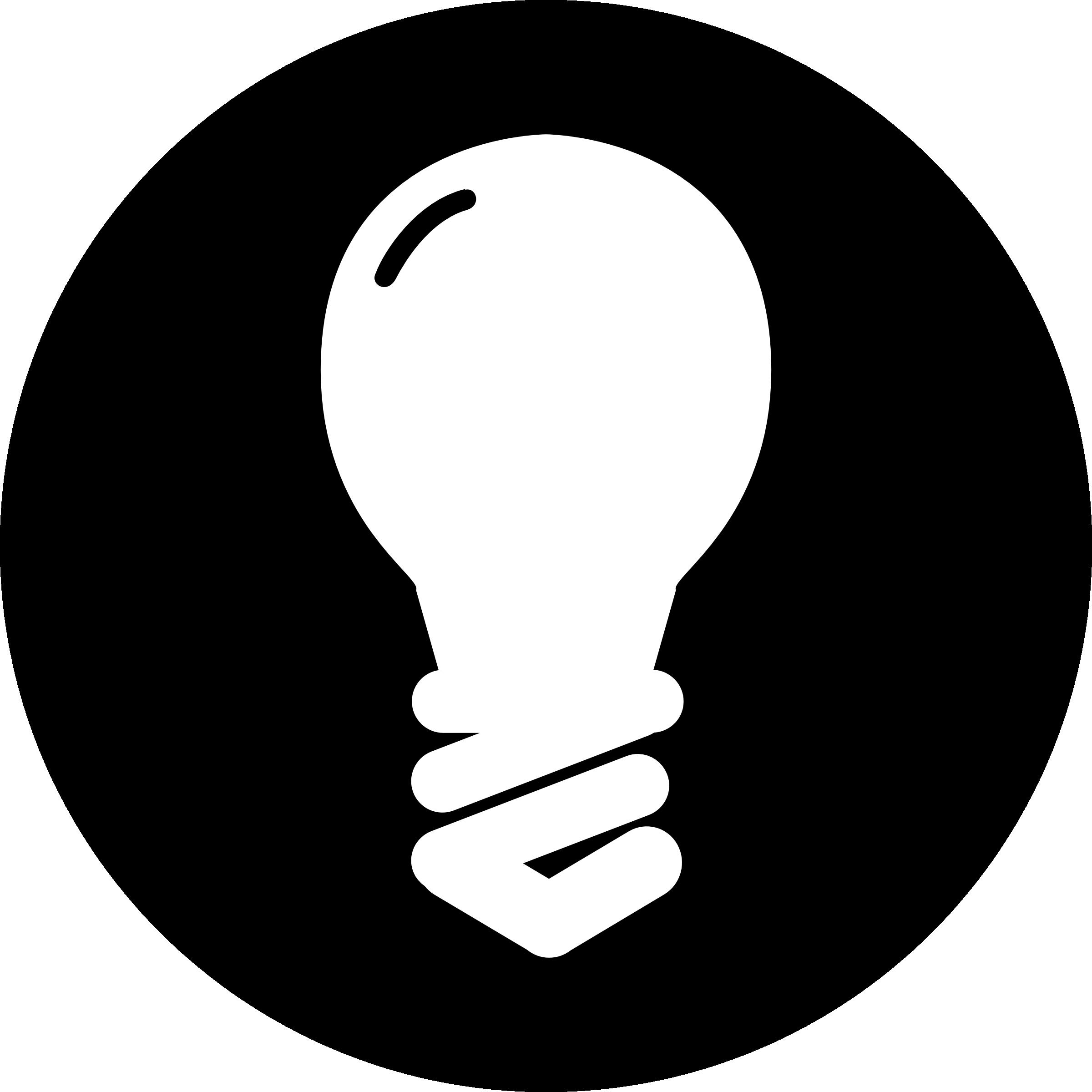Idea black and white. Light bulb clip art retro