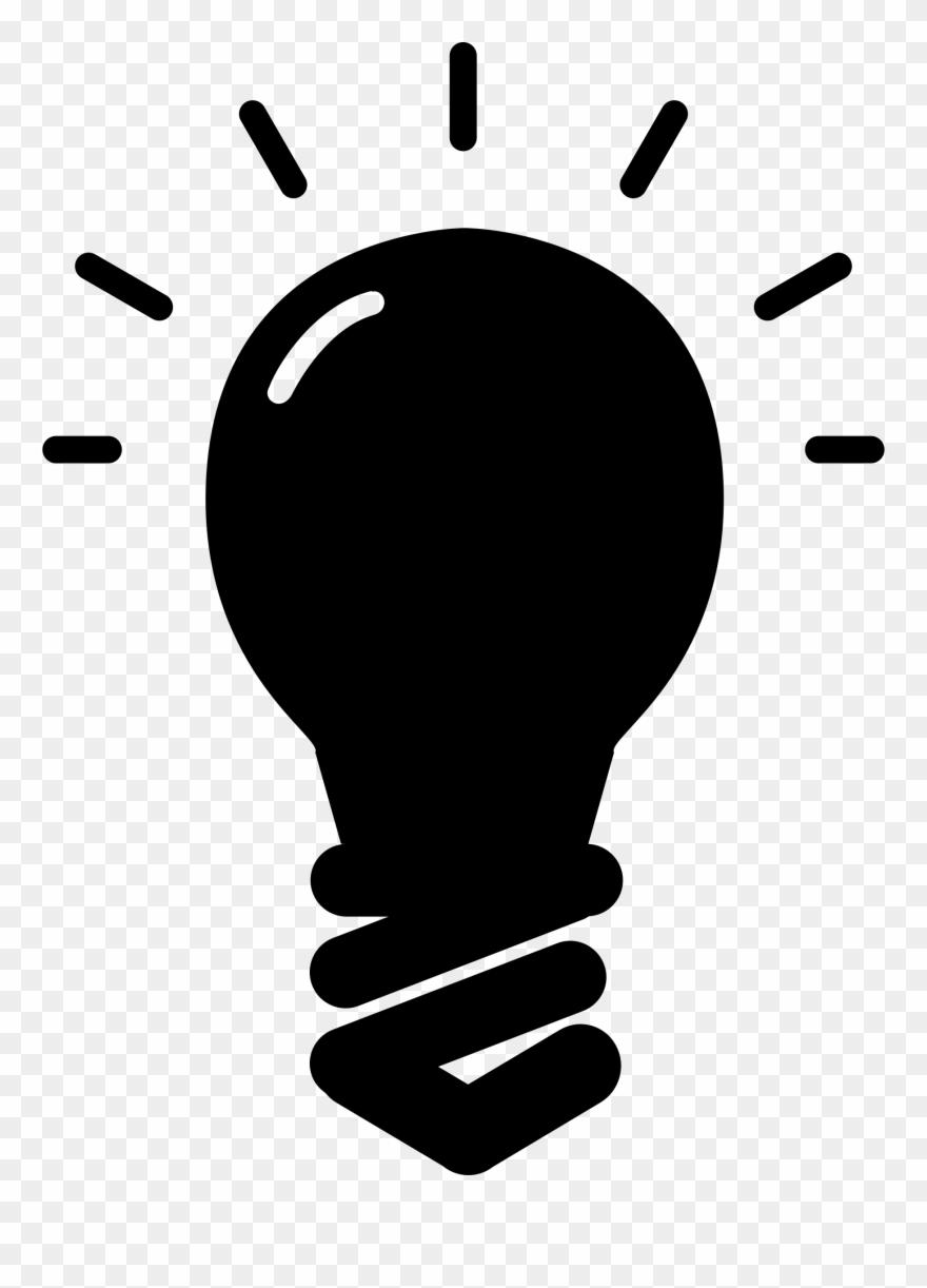 Lightbulb clipart silhouette. Ambulance running light bulb