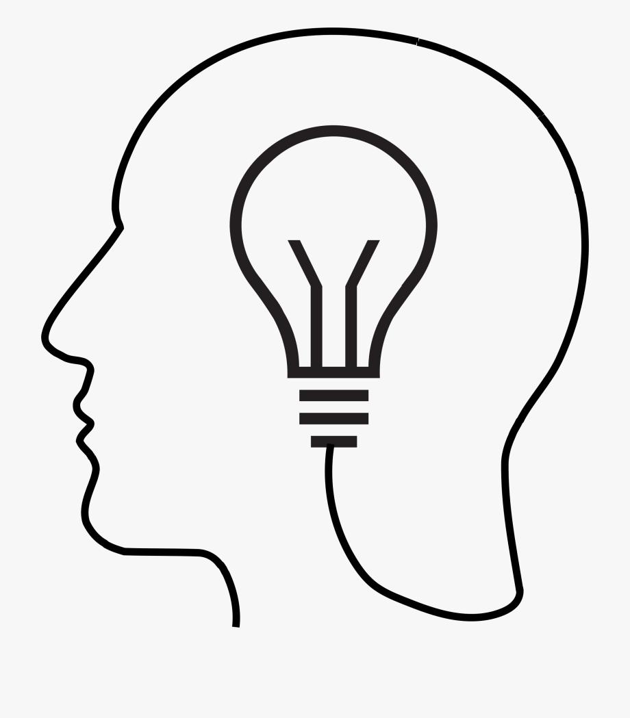 Light bulb big image. Lightbulb clipart silhouette