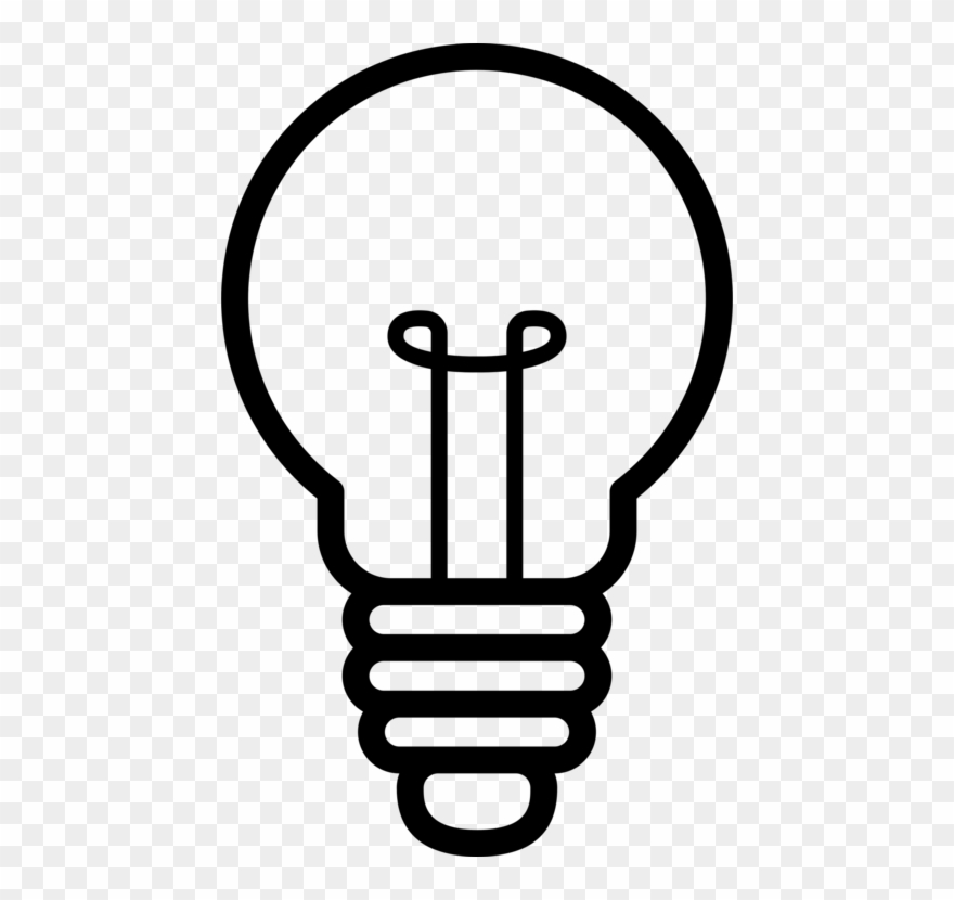 Idea creativity concept light. Lightbulb clipart silhouette