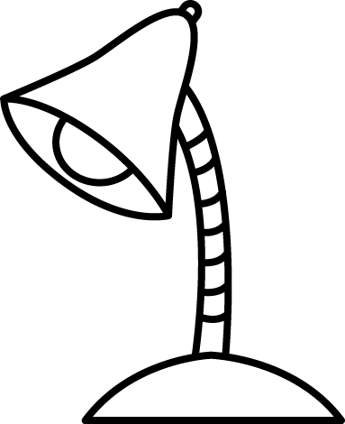 Lamp clipart black and white. Light bulb line drawing