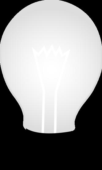 White glass idea free. Light bulb clip art simple