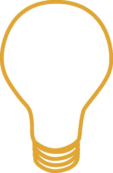 Yellow at clker com. Light bulb clip art simple