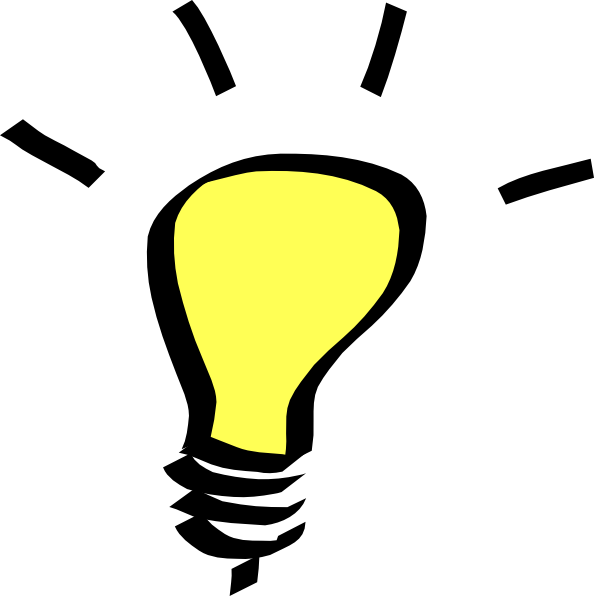 Electricity clipart lighting. Thinking light bulb clip